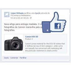 Publicação de artigos no Facebook - ecommerce v7.0x