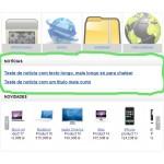 Noticias na loja online - ecommerce v8.0x