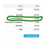 Taxas ou descontos por método de pagamento  - ecommerce v8.0x