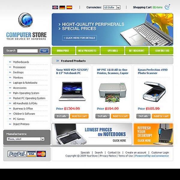 Template osCommerce TPL-2TL5P186 osc