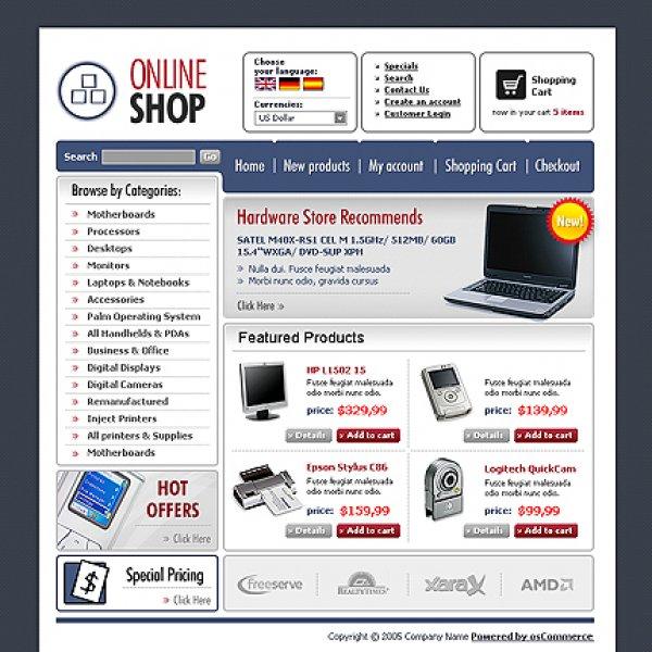 Template osCommerce TPL-8TL8P14 osc